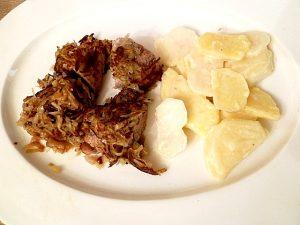 Schweinefilet im Kartoffelmantel mit Mairübchen