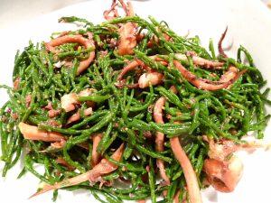 Salat Krakenarmen und Salicornes
