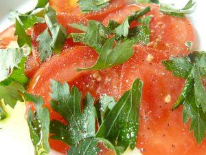 Tomaten und Petersilie