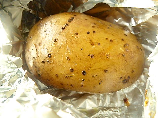 Ofenkartoffel auspacken