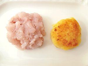 Tatar und Kartoffelplätzchen