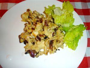 Käsespätzle mit grünen Salat