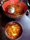 Scharfe süß sauer Suppe für 2 Personen
